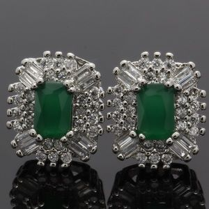 Jewelry - 2.70ctw emerald and White Sapphire earrings